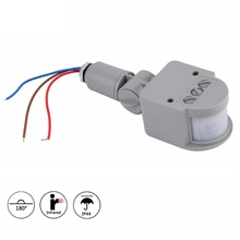Профессиональный Домашний AC 220 В ИК-датчик движения, светильник, наружный автоматический инфракрасный PIR датчик движения, светодиодный светильник