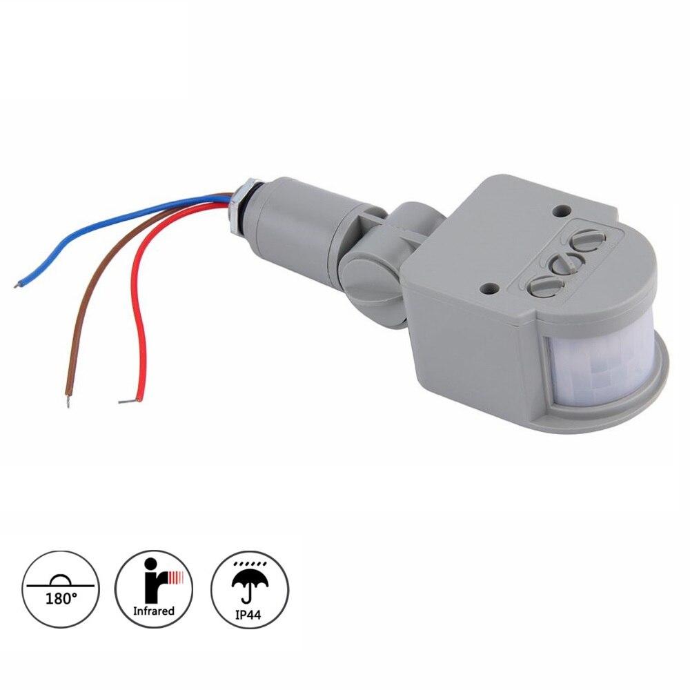 Interruptor de luz con Sensor de movimiento IR AC 220V profesional para el hogar, interruptor de Sensor de movimiento PIR infrarrojo automático para exteriores con luz LED