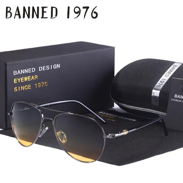 Dia e Noite versão Cool Designer unidade Polarizada Óculos De Sol UV mulheres Óculos de sol Oculos Homens óculos de pesca venda quente com a caixa