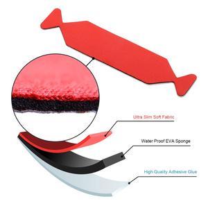 Image 2 - Foshio 20pcs 비닐 랩 카드 스퀴지 스페어 3 레이어 방수 패브릭 가장자리 자동차 창 색조 스크레이퍼 천 탄소 섬유 수호자