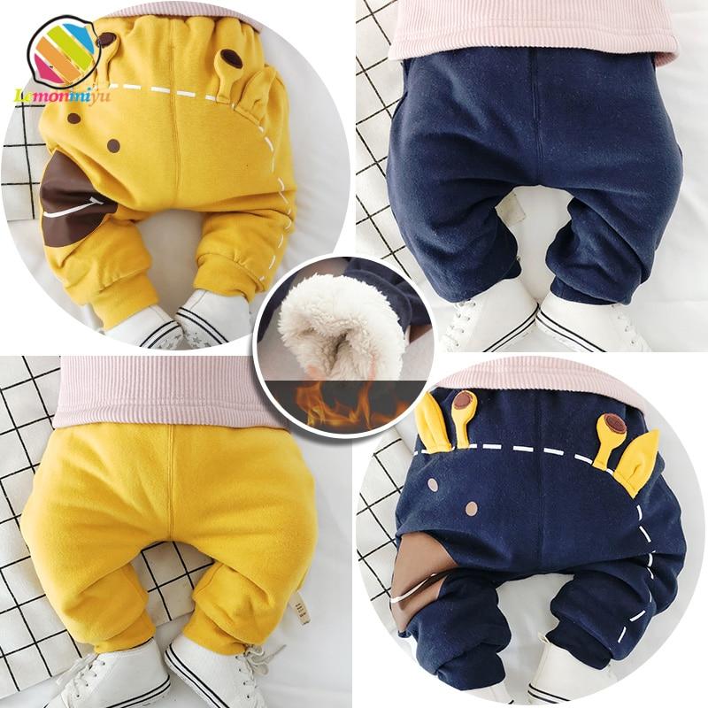 Lemonmiyu Thicken-Pants Baby Winter Trousers Bottom Harem Newborn Unisex Casual Warm