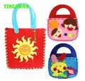 HAPPYXUAN 5pcs/lot Make Handmade Handbags DIY Non-woven Felt Fabric Cloth Kit kids Girl Art & Crafts Toys for Children