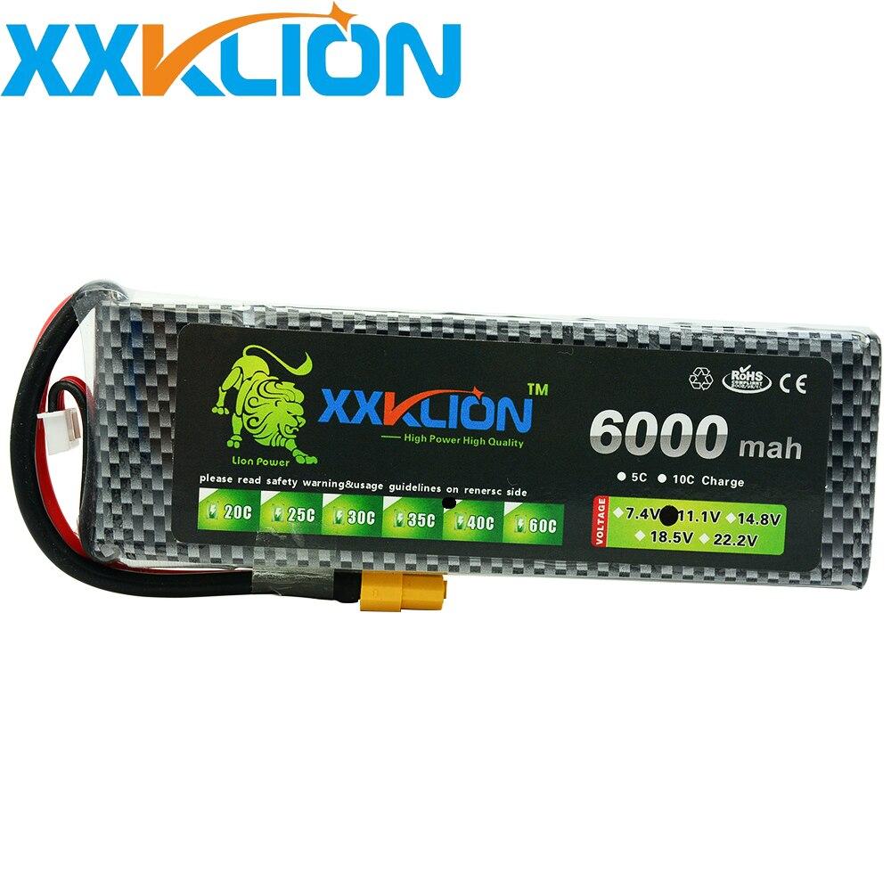 XXKLION 3 S Lipo batterie 11.1 V 6000 MAH 40C RC télécommande hélicoptère photographie aérienne télécommande voiture modèle batterie