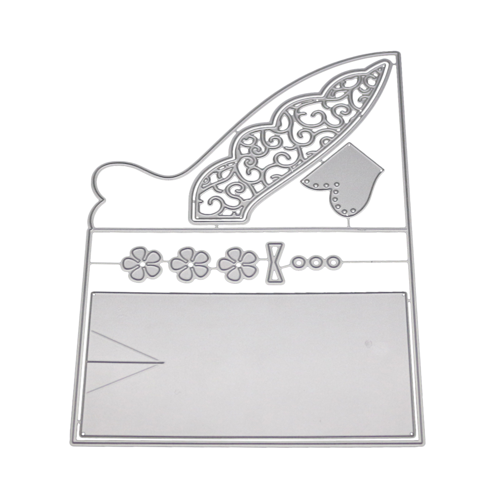 Suit invitation lace decoration Metal Cutting Dies for DIY Scrapbooking Embossing Paper Cards making Decor Crafts met dies in Cutting Dies from Home Garden