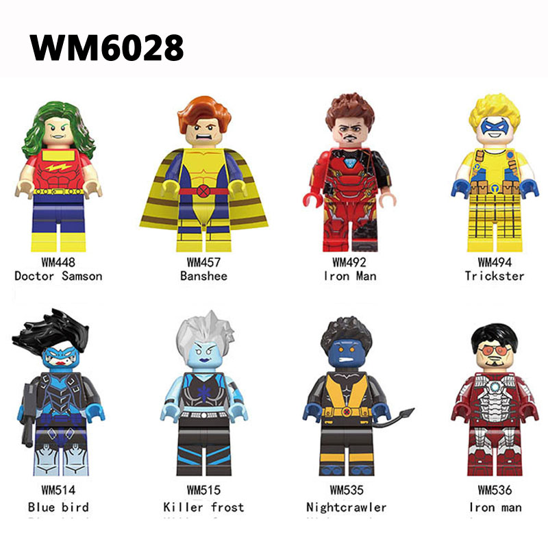 Building Blocks WM6028 Killer Frost Blue Bird Iron Man Trickster Doctor Samson Nightcrawler Banshee Super Heroes Toys Gifts цена в Москве и Питере