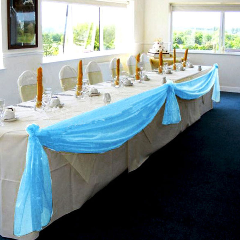 Organza Table Runners Wedding Party Banquet Bow Decoration Wedding Decoration Casamento 5 x 1.4m