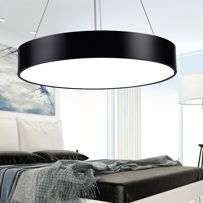 Simple Round Hanging Light Modern Led Pendant Light Suspension Luminaire Pendant Lamp Lighting Fixture for Office Shop Home