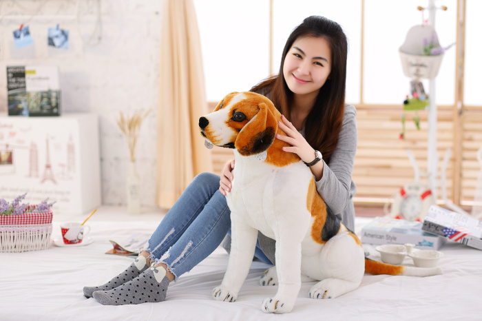 big lovely simulaiton plush beagle dog toy sitting beagle dog doll gift about 70cm new plush gray akita dog toy lovely cute fat sitting akita dog doll gift about 45cm