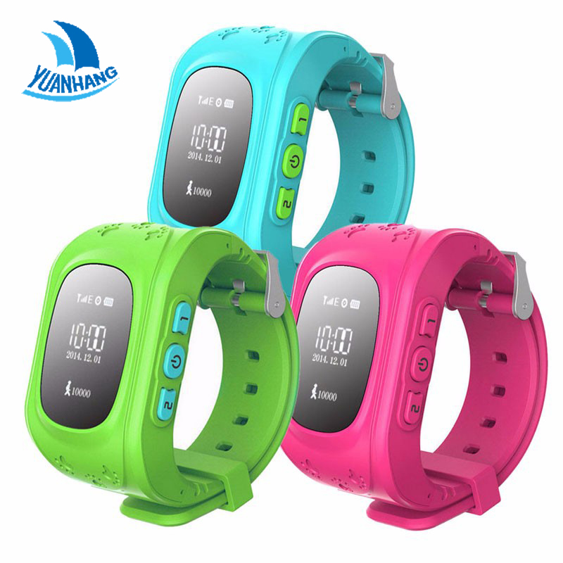 2017 Smart Safe GPS Watch Wristwatch SOS Call Location Finder Locator Tracker for Kid Son Child Anti Lost Monitor Baby Gift Q50