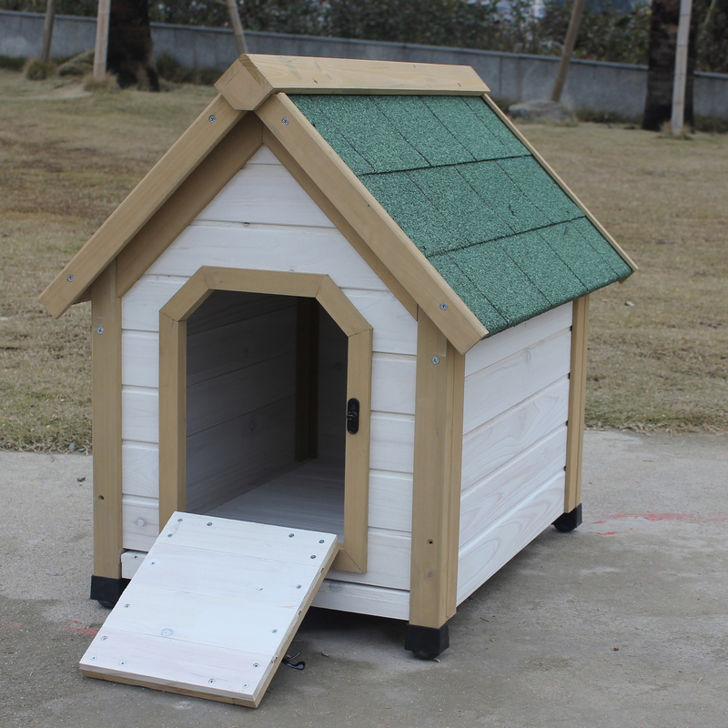 Outdoor Wood Dog House Brand New Pretty Terrace Kennel