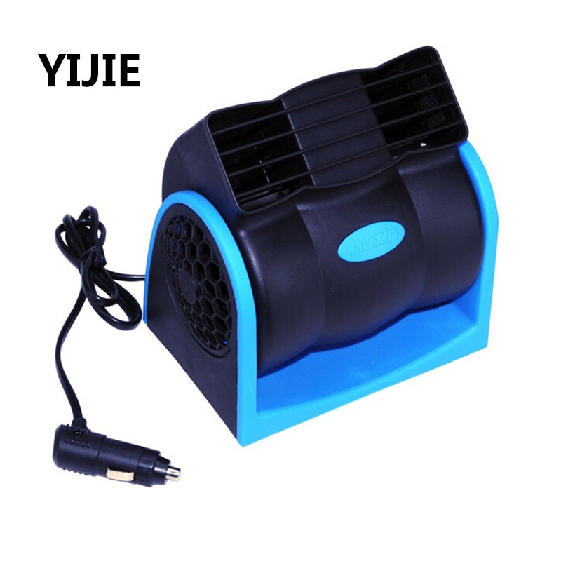 YIJIE 12V24V Car Cooler Fan Car <font><b>Portable</b></font> Automotive <font><b>Air</b></font> <font><b>Conditioning</b></font> Refrigeration Bladeless Turbine Fan
