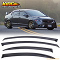 Fit For 06-11 Honda Civic 4Dr Window Visors MU Style 4PC Injection Deflector