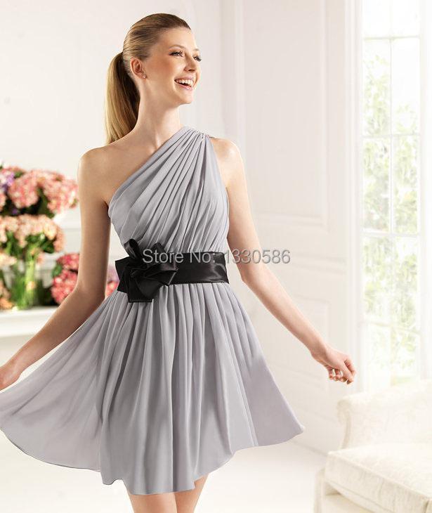 Grey and black bridesmaid dresses