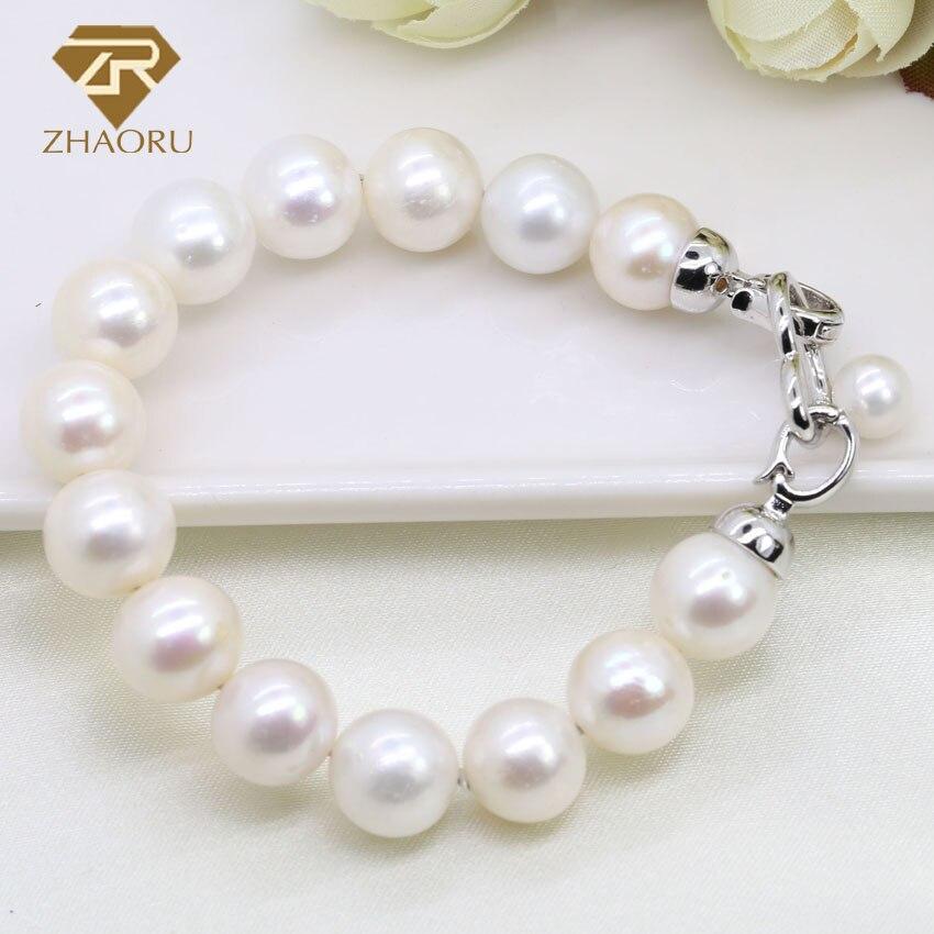 Zhaoru perle d'eau douce bracelets pour femme véritable bijoux cadeau ZB001