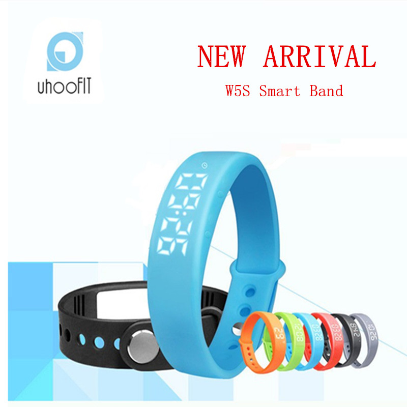 Smart Wristband Bracelet Uhoofit W5S Pedometer Sleep Tracker Thermometer Smart Band Fitness Tracker Smart Watch For