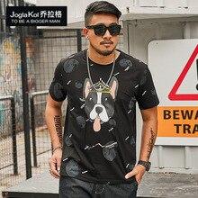 New mens summer loose thin short sleeves fashion round collar pure cotton T-shirt XL-6XL