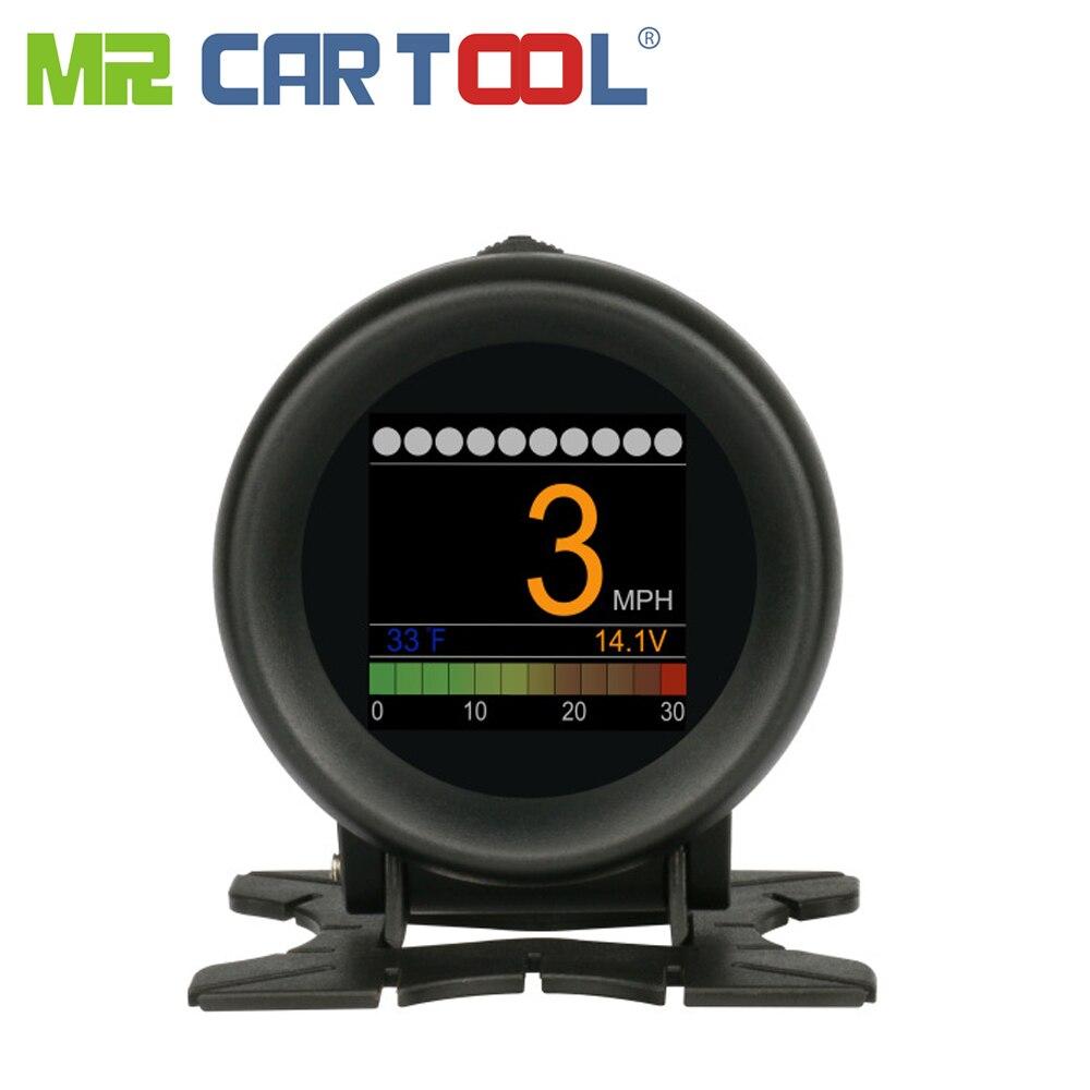 AUTOOL X60 Cabeça Up Display Hud Obd Ii 2 Odb2 Alarme Medidor De Velocidade Digital Medidor De Temperatura Da Água do Óleo Do Carro Velocímetro ferramenta de Diagnóstico Auto
