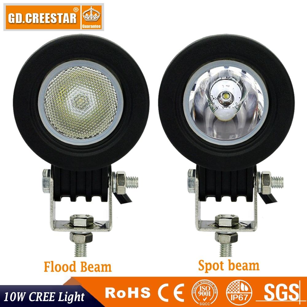 10 W Spot Sel LED İş Işık 2 Inç 12 V Araba Oto SUV ATV 4WD 4X4 - Araba Farları - Fotoğraf 2