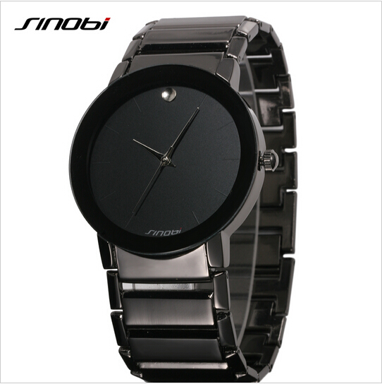 SINOBI Top Brand Luxury Watch Men Watch Fashion Full Steel Men s Watch Waterproof Wrist watches