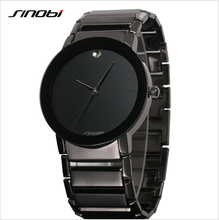 SINOBI Top Brand Reloj de Los Hombres Reloj de Acero Llena de Moda de Lujo Reloj de Los Hombres A Prueba de agua relojes de Pulsera relogio masulino reloj hombre