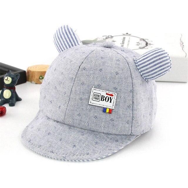Newborn Toddler Baby soft Cotton Baseball Cap Spring Girl Boy Snapback Cap  Little Ear Hats for 3-12M 579ca2840b1