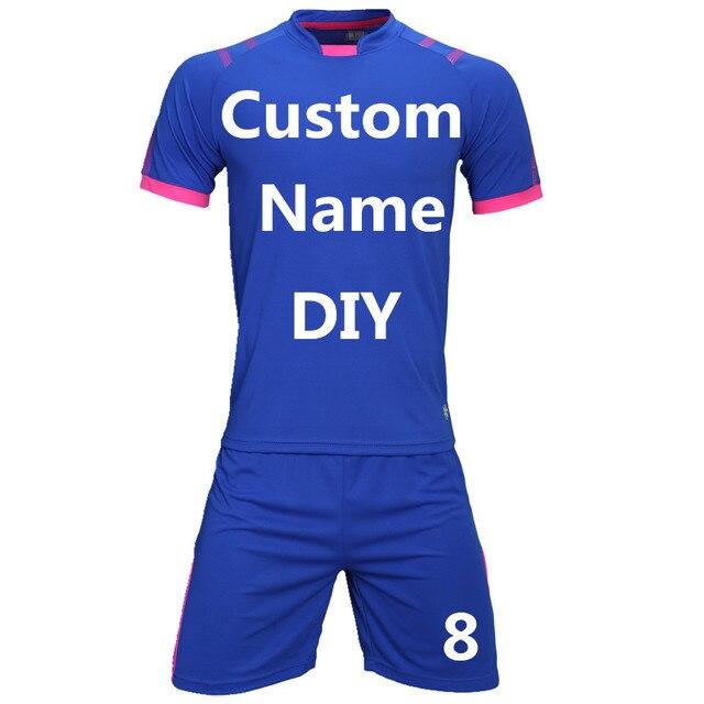 ad21d871fdb Men football jerseys soccer sets uniforms futebol jersey sport kit shorts  shirts tracksuit team custom printing name number logo