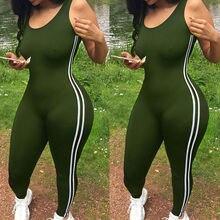 2018 Sexy Women Sports Jumpsuit Gym Yoga Running font b Fitness b font Athletic Sleeveless Leggings