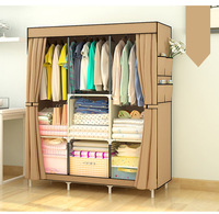 FREE Shipping Wardrobe Closet Large And Medium Sized Cabinets Simple Folding Reinforcement Receive Stowed Clothes