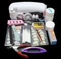 Pro Nail Art UV Gel Kits Tool UV lamp Brush Remover nail tips glue acrylic UW,Nail Kit BTT-71 Free Shipping