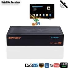 Support Cccam Receiver Satellite DVB S2 H.265 IPTV M3U Satellite TV Receiver DDR2 2GB Receptor  PowerVu DRE Biss key Tuner все цены