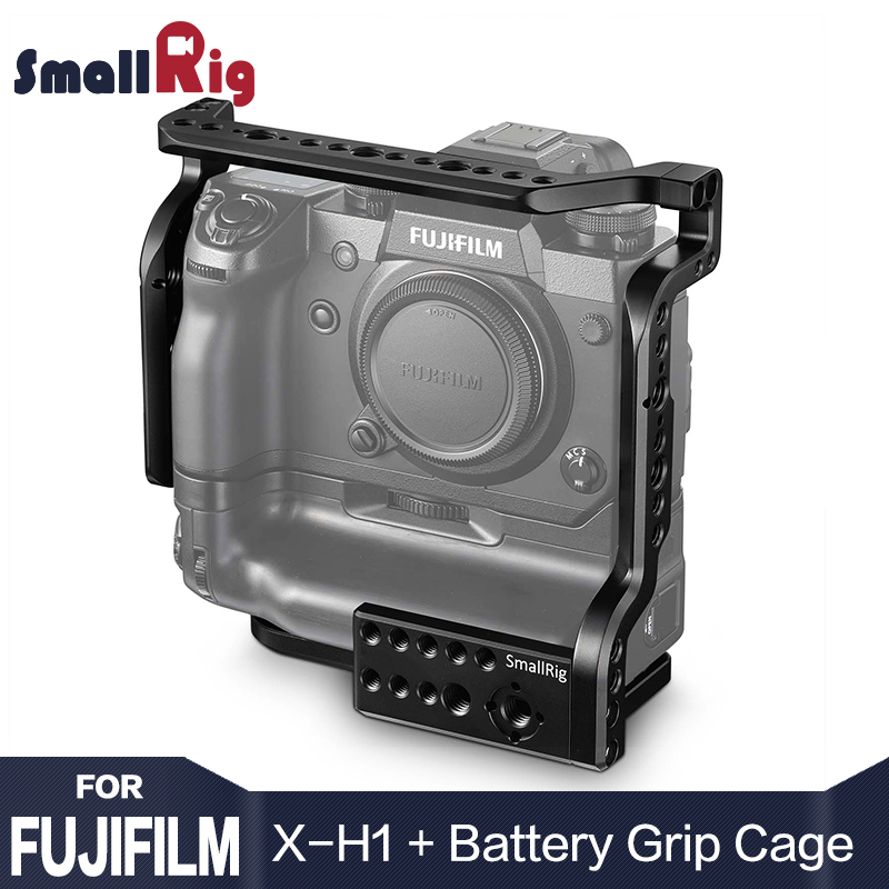 SmallRig Camera Cage for Fujifilm X-H1 Camera with Battery Grip With Nato Rial Built-in Light Weight DSLR Cage 2124SmallRig Camera Cage for Fujifilm X-H1 Camera with Battery Grip With Nato Rial Built-in Light Weight DSLR Cage 2124
