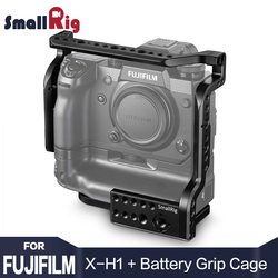 SmallRig Camera Cage for Fujifilm X-H1 Camera with Battery Grip With Nato Rial Built-in Light Weight DSLR Cage 2124