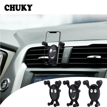 CHUKY Car Styling Mobile Phone Holder Expression Bracket Accessories For Nissan Juke Tiida Subaru Ford mondeo mk4 mk3 Opel corsa image