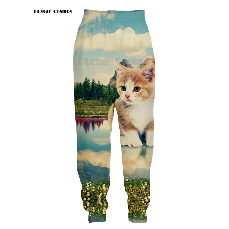 PLstar Cosmos Men Women Pants 3D Printed Cute Cats Trousers Funny Unisex Sweatpants Casual Sweat Pants Joggers Large Size