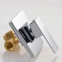 Bathroom Concealed Shower Faucet In Wall Mounted Faucet Shower Mixer Valve Brass Chrome Singl Function Actuated