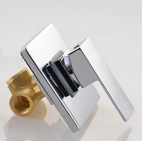 цена на Bathroom Concealed shower faucet In Wall Mounted Faucet Shower Mixer Valve Brass Chrome Singl Function Actuated Faucet tap mixer