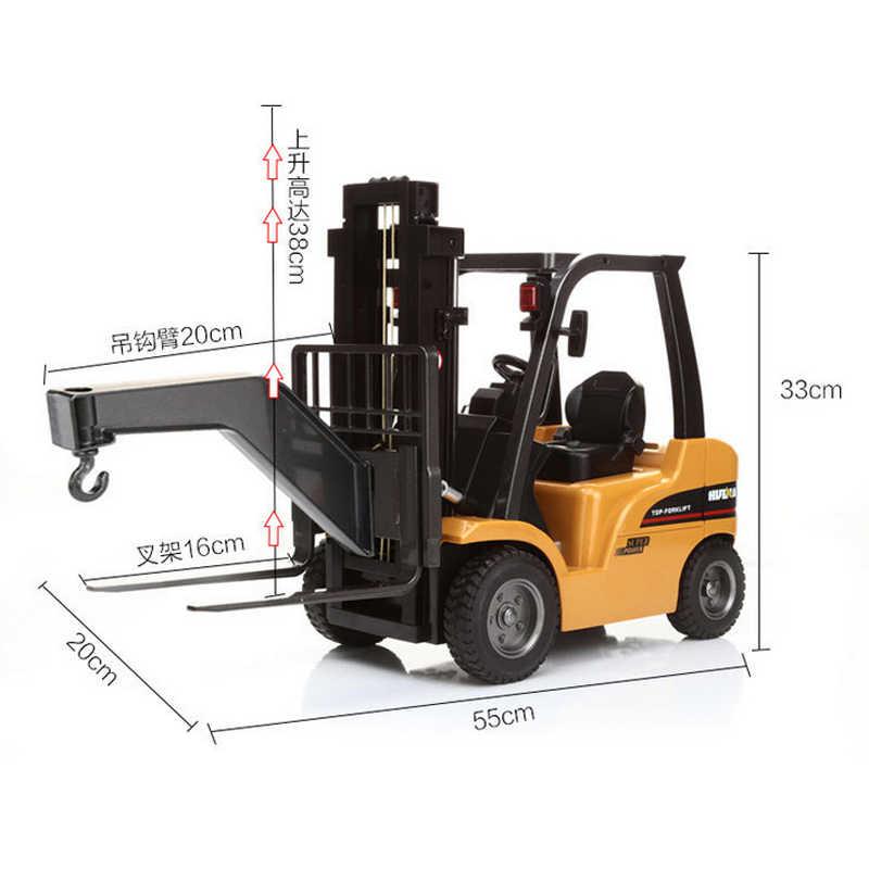 Huina радиоуправляемая модель Huina игрушки для Для детей Car Детские игрушки малыша автомобиль погрузчик Rc 1:10 хобби строительной техники грузовик игрушки