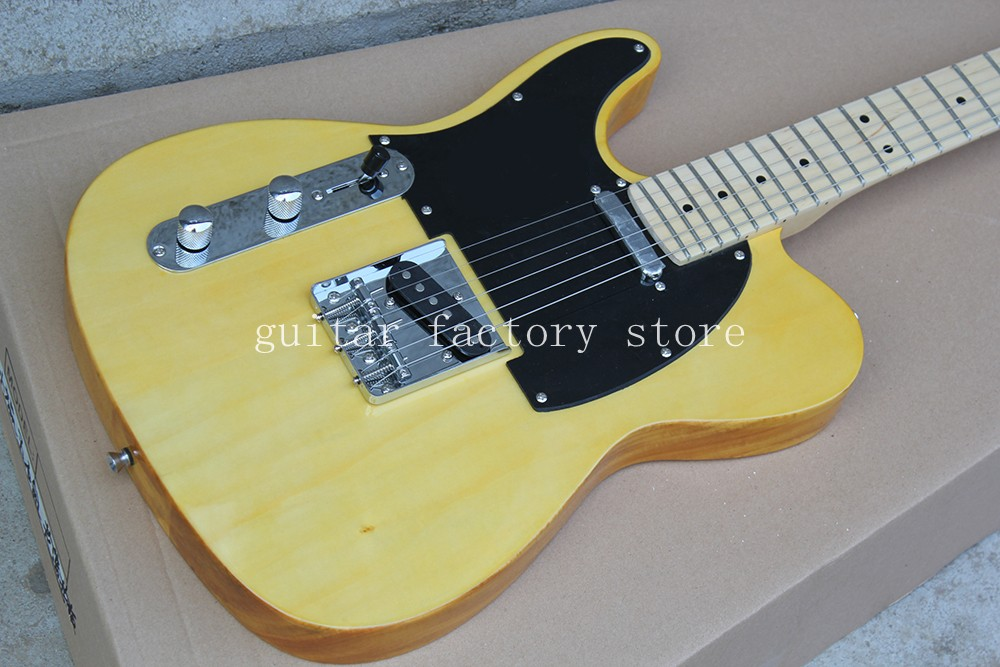 Hot sale Vintage '52 TL aged electric guitar,Natural TL guitar,Maple body ≤ft hand guitar,