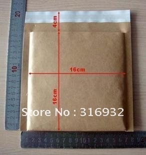 Brown Kraft Hot Sale 50 KRAFT Bubble Mailers Padded Envelopes 16*16+4cm For Sale