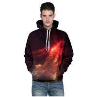Men Women New Fashion Space Galaxy 3d Print Sweatshirts Hoodies Stars Nebula Spring Autumn Loose Thin