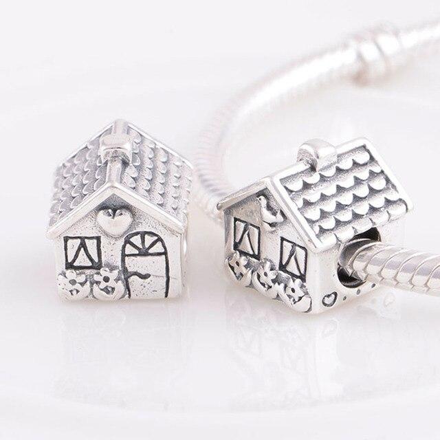 Pandora Women's 925 Sterling Silver House Charm Bead q7qMqwy