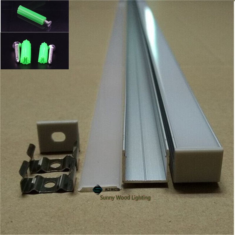 5-30pcs/lot 1m 40 Inch Led Aluminium Channel ,strip Profile With Cover For 16mm Double Row Tape Light ,W18*H13MM Bar Light