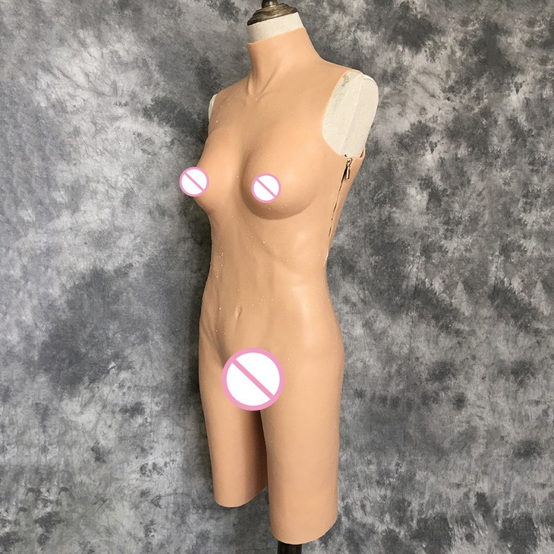 купить Silicone Jumpsuit Shemale Transvestite Breast Forms Drag Queen Crossdress Artificial Vagina for Crossdresser Vagina C Cup дешево