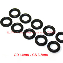 OD14mm*CS3.5mm black NBR nitrile o ring o-ring oring sealing rubber cord 70 shore a