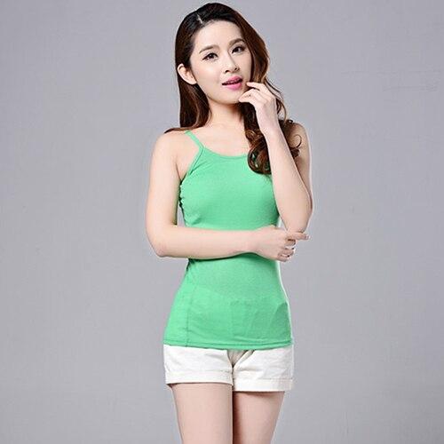 Women's Sexy Horizontal Neck Camisole Summer Fashion Sleeveless Tank Top Vest