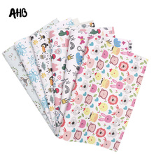 AHB Faux Leather Sheets Synthetic Leather Bears Monkey  Printed For DIY Kids Hair Accessories Birthday Party Decor Materials цена и фото