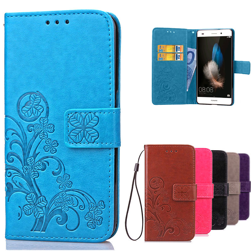 Cover Huawei P8 Lite Flip Case 3d Etui Luxury Retro PU Leather & Protective Soft Silicon Cover Case For Huawei P8 Lite</fo
