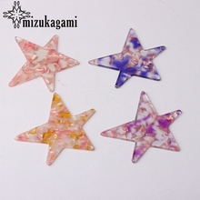 64mm Acetic Acid Resin Big Star Charms Pendants For DIY Fashion Drop Earrings Jewelry Making Accessories