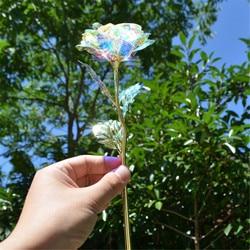 Valentine's Day Creative Gift Galaxy Rose Flower Valentine's Day Lovers' Gift Romantic Flowers With Love Base Wedding Decor Gift