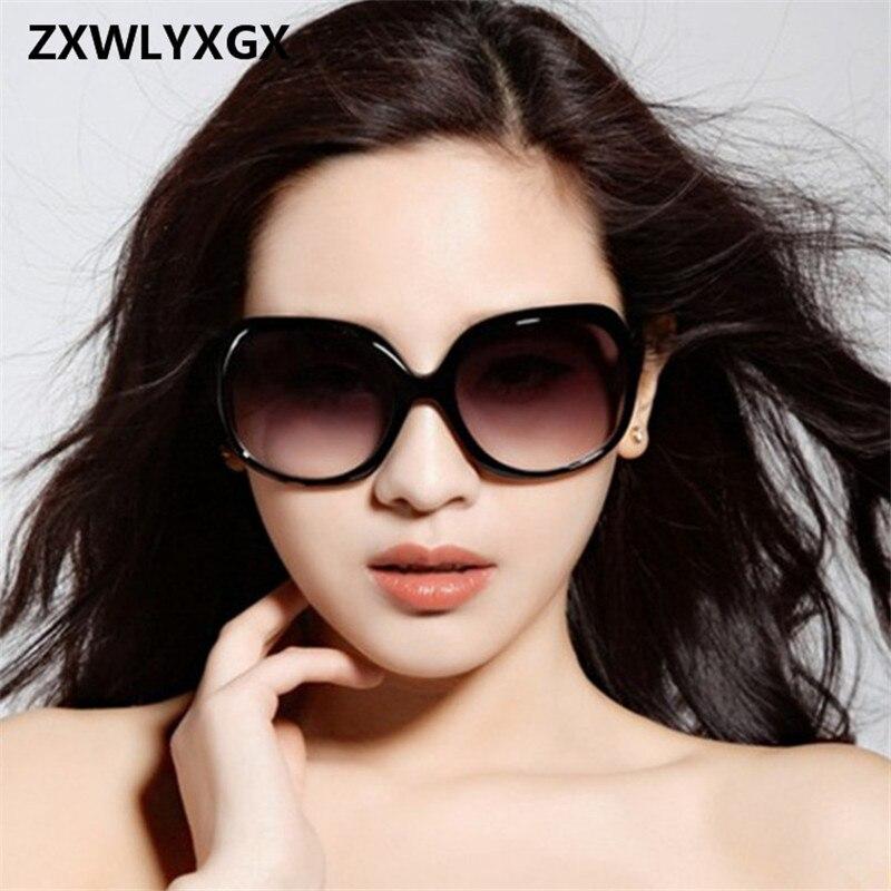 2018 New Mirror Goggle Explosion-proof Lens Large Frame Female Sunglasses Women Brand Vintage Sun Glasses Women oculos de sol